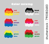 learning colors mixing for... | Shutterstock .eps vector #790382683