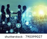 Stock photo business network concept social networking crowd sourcing 790399027