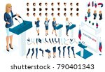 create your isometric character.... | Shutterstock .eps vector #790401343