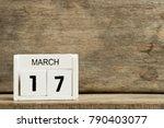 white block calendar present... | Shutterstock . vector #790403077