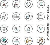line vector icon set   baby... | Shutterstock .eps vector #790415167