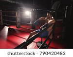 professional boxer having break ... | Shutterstock . vector #790420483