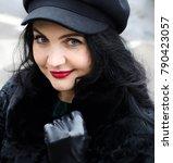 portrait of a woman. beautiful...   Shutterstock . vector #790423057