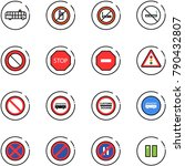 line vector icon set   airport... | Shutterstock .eps vector #790432807