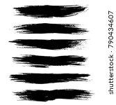 grunge ink brush strokes....   Shutterstock .eps vector #790434607