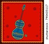 vector design of guitar music...   Shutterstock .eps vector #790435117