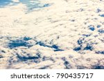beautiful white cloud and sky... | Shutterstock . vector #790435717
