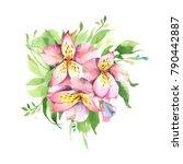 watercolor illustration.... | Shutterstock . vector #790442887