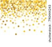 gold background. yellow  golden ... | Shutterstock .eps vector #790444243