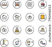 line vector icon set   vip... | Shutterstock .eps vector #790446013