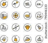 line vector icon set   sea... | Shutterstock .eps vector #790446133