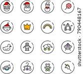 line vector icon set   santa... | Shutterstock .eps vector #790448167