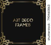 vintage retro style invitation  ... | Shutterstock .eps vector #790460863