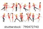 pair figure skating couple boy... | Shutterstock .eps vector #790472743
