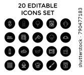 nobody icons. set of 20... | Shutterstock .eps vector #790477183