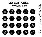 carpentry icons. set of 20... | Shutterstock .eps vector #790477237