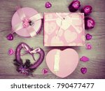 gift box with roses flowers... | Shutterstock . vector #790477477