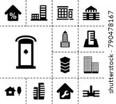apartment icons. set of 13... | Shutterstock .eps vector #790478167