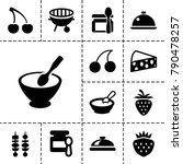gourmet icons. set of 13... | Shutterstock .eps vector #790478257