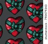 vector hand drawn seamless... | Shutterstock .eps vector #790479343