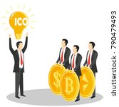 new ico or initial coin... | Shutterstock . vector #790479493