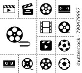 cinematography icons. set of 13 ... | Shutterstock .eps vector #790479997