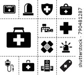 emergency icons. set of 13... | Shutterstock .eps vector #790481287