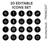 mechanical icons. set of 20... | Shutterstock .eps vector #790481347