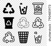 set of 9 reuse filled and...   Shutterstock .eps vector #790485973