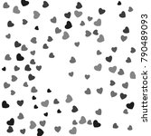 hearts confetti  bright...   Shutterstock .eps vector #790489093