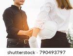 successful deal  female... | Shutterstock . vector #790493797