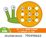 counting game for preschool... | Shutterstock .eps vector #790498663