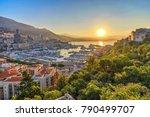 monaco ville harbour sunrise...   Shutterstock . vector #790499707