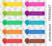 pointers or map markers with... | Shutterstock .eps vector #790504627