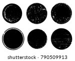 grunge post stamps collection ... | Shutterstock .eps vector #790509913