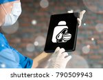 white icon button pills bottle...   Shutterstock . vector #790509943