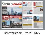 newspaper design poster with... | Shutterstock .eps vector #790524397