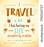 travel. vector hand drawn... | Shutterstock .eps vector #790524727