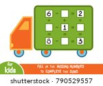 counting game for preschool... | Shutterstock .eps vector #790529557