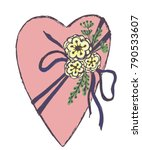 vector hand drawn heart wrapped ... | Shutterstock .eps vector #790533607