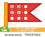 counting game for preschool... | Shutterstock .eps vector #790537603