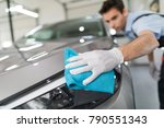 car detailing   the man holds... | Shutterstock . vector #790551343