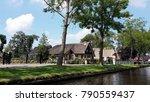 typical dutch village giethoorn ... | Shutterstock . vector #790559437