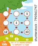 counting game for preschool... | Shutterstock .eps vector #790561747