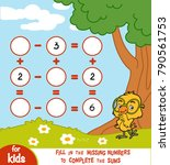 counting game for preschool... | Shutterstock .eps vector #790561753