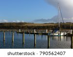 sailing ship in the harbor of... | Shutterstock . vector #790562407