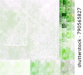 Abstract Painted Textured Gree...