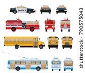 set of urban transport. city... | Shutterstock .eps vector #790575043
