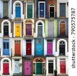 collage of 24 old and colorful... | Shutterstock . vector #790575787
