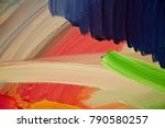abstract  painting for interior ...   Shutterstock . vector #790580257